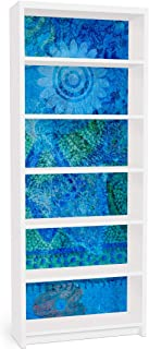 Vinilo Adhesivo para Muebles IKEA - Billy Bookshelf - Terra Azura, Größe:2 Mal 94cm x 76cm