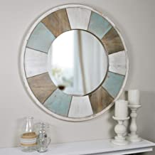 Decorative Raindrop Lightweight Bathroom Mirror Unique Stick On Mirror for Sea Theme Bathroom