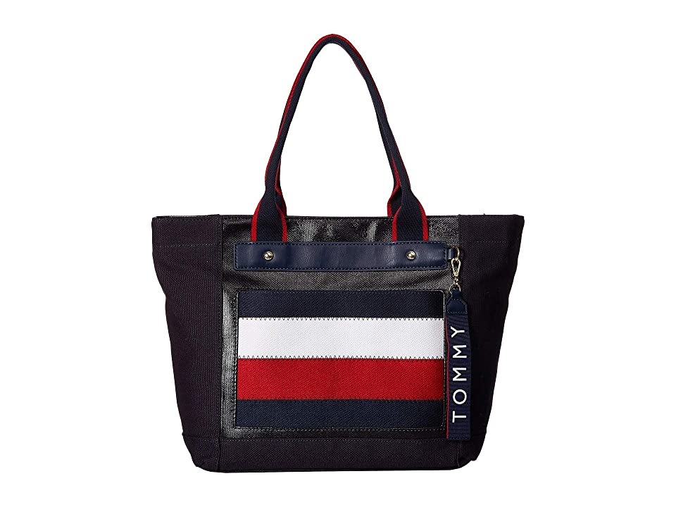 Tommy Hilfiger Classic Tommy Shopper (Navy/Multi) Handbags