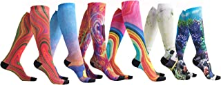 6 Pairs Women's Graduated Compression Trouser Socks 8-15mmHg