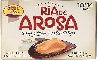 Conserva Ria De Arosa Ortiz Rias De Arosa Mussels in Escabache Sauce Fired in Olive Oil