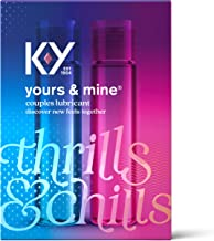 Lubricant for Him and Her, K-Y Yours & Mine Couples Lubricant, 3 fl oz, Couples Personal Lubricant and Intimate Gel, Sex Lube for Women, Men and Couples