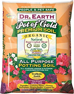 Dr. Earth 749688008136 813 Gold Premium Potting Soil, 8 Quart