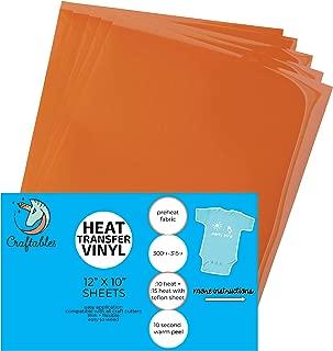 Best burnt orange heat transfer vinyl Reviews