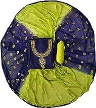 Blue Wish Women S Chanderi Cotton Semi Stitched Salwar Suit
