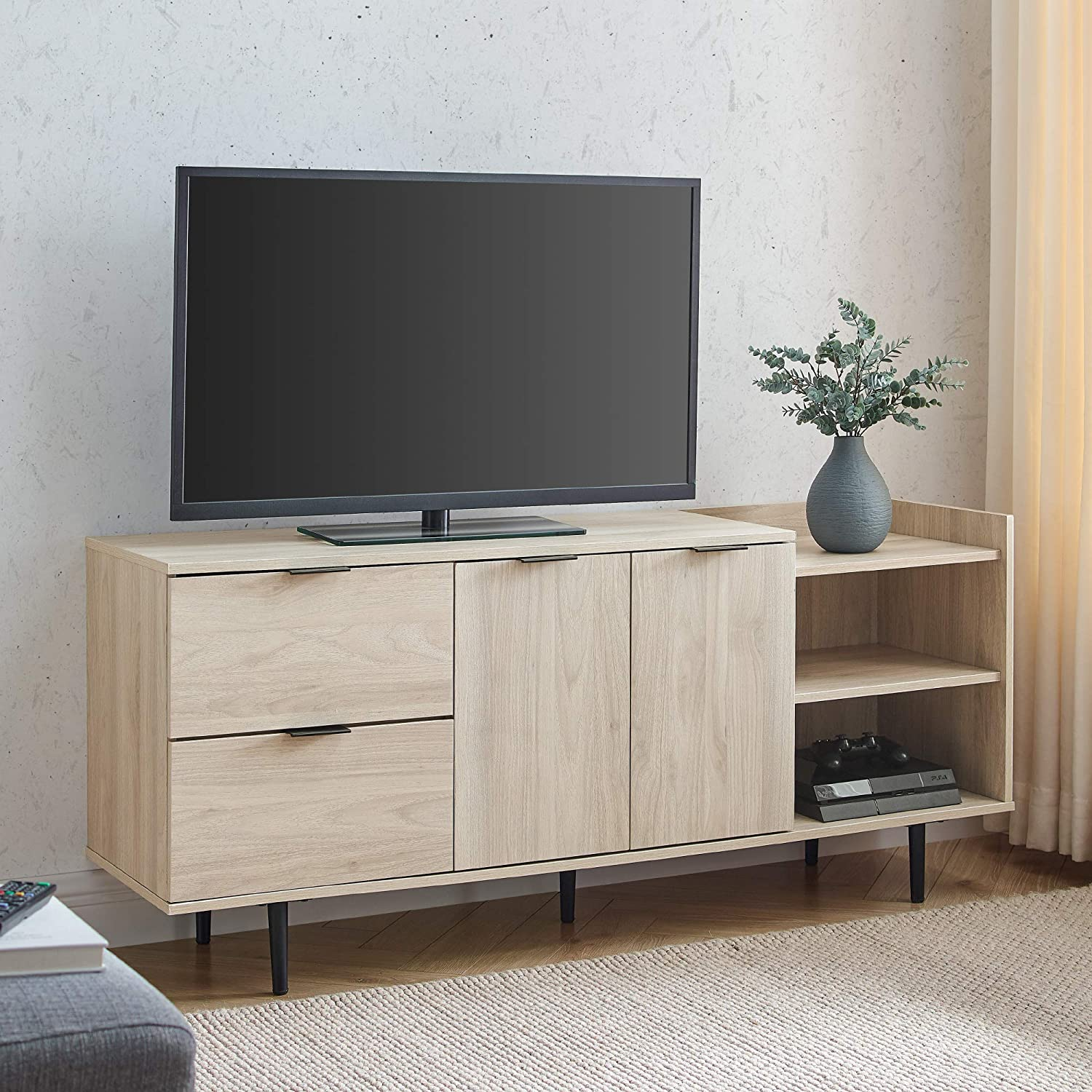 Walker safety Edison Columbia Modern Storage Stand up 65 TVs for Inc New arrival to