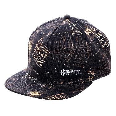 Harry Potter Solemnly Swear Snapback Cap Black