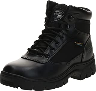 Skechers Men's Wascana-Benen Military and Tactical Boot, Black, 5.5 M US