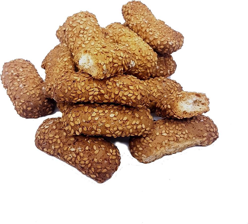 Rarezze,biscotti regina al sesamo (750 gr)