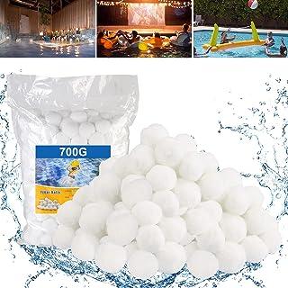 Molbory Filtre Balles Piscine Boules Filtre 700g, Balles Filtrantes, Média Filtre à Fibres pour Piscine Filtres à Sable Fi...