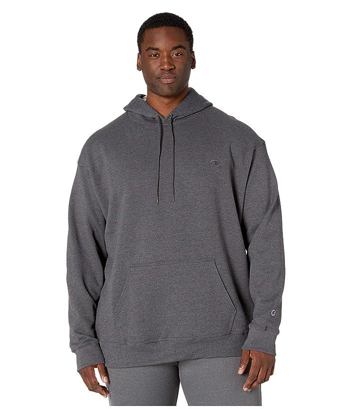Champion  Big Tall Powerblend Fleece Hoodie (Granite Heather) Mens Sweatshirt