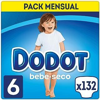186ce97bc377 DODOT Bebé-Seco Pañales Talla 6, 132 Pañales, Pañal con Canales de Aire