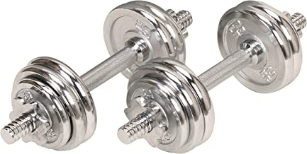 Sunny Health (SJTT9) 14 and Fitness 33-Pound Dumbbell Chrome Set