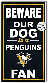 KH Sports Fan 11x20 inOutdoor Sign Beware of Dog Pittsburgh Penguins