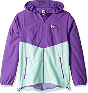 adidas Originals Men's Dekum Packable Wind Jacket, active purple/clear mint