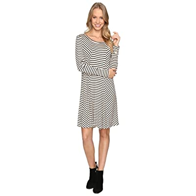 B Collection by Bobeau Indra Long Sleeve Dress (Stripe) Women