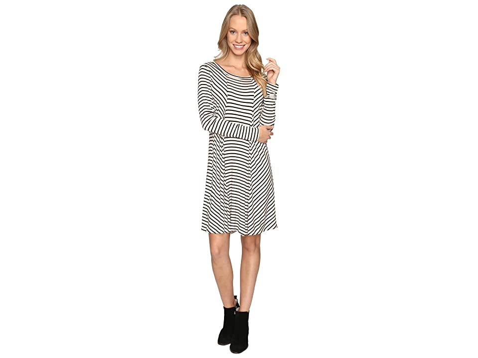 B Collection by Bobeau Indra Long Sleeve Dress (Stripe) Women