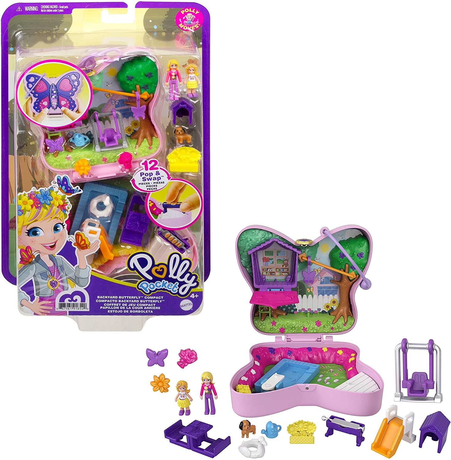 Polly Pocket Backyard Max 69% Max 49% OFF OFF Butterfly Compact Outdoor with Micr Theme