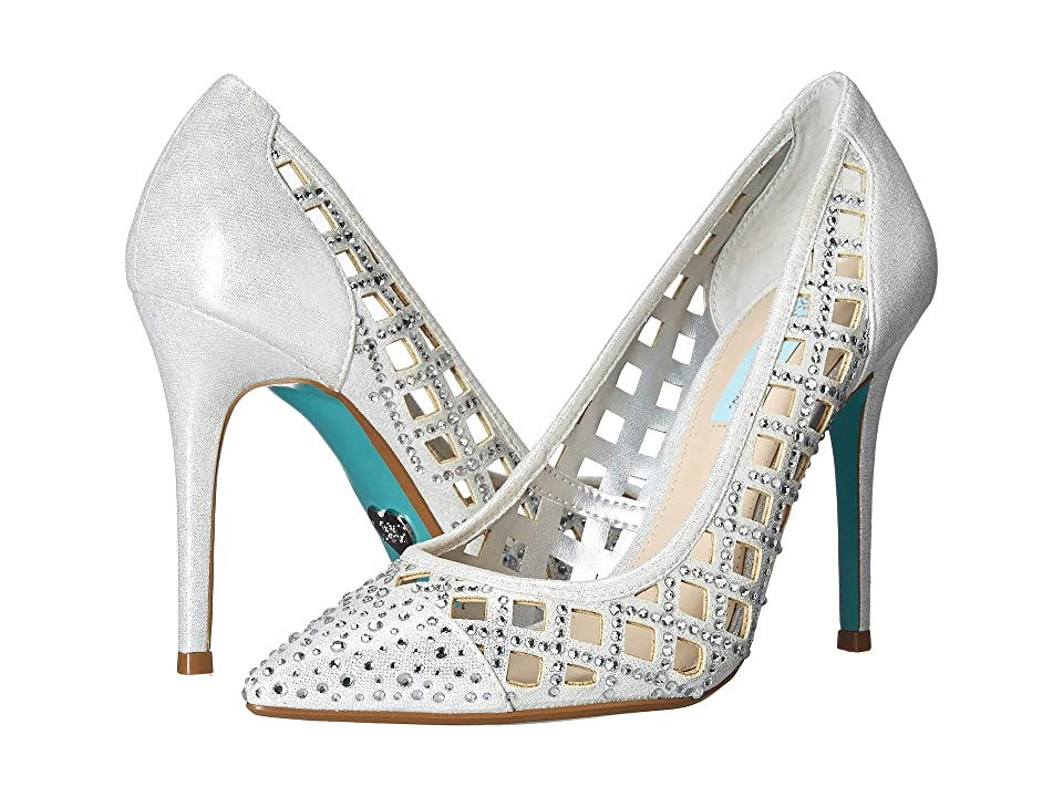 Blue by Betsey Johnson Mella Pump (Silver Shimmer) Women