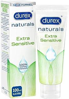 Durex Naturals 3114501 Glijgel Op Waterbasis – Glijmiddel Van 100% Natuurlijke Ingrediënten, 100 Ml