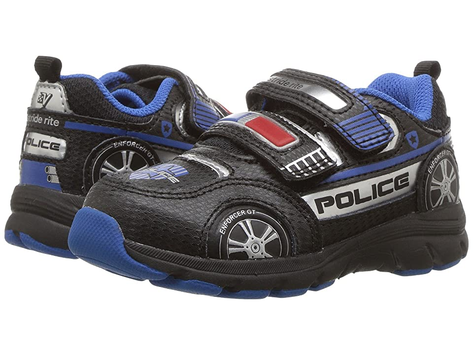 Stride Rite Vroomz Police Cruiser (Toddler/Little Kid) (Black/Silver) Boys Shoes