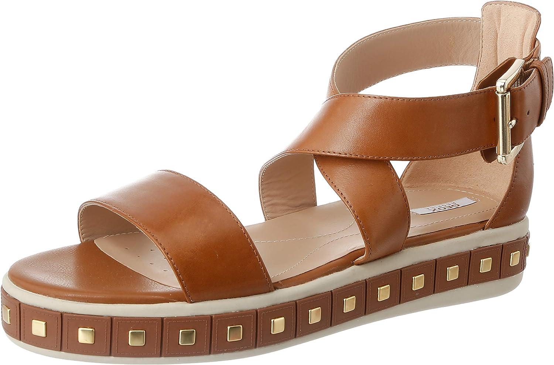 Geox Women's Wedge 日本正規代理店品 商舗 Heels Toe Open Sandals