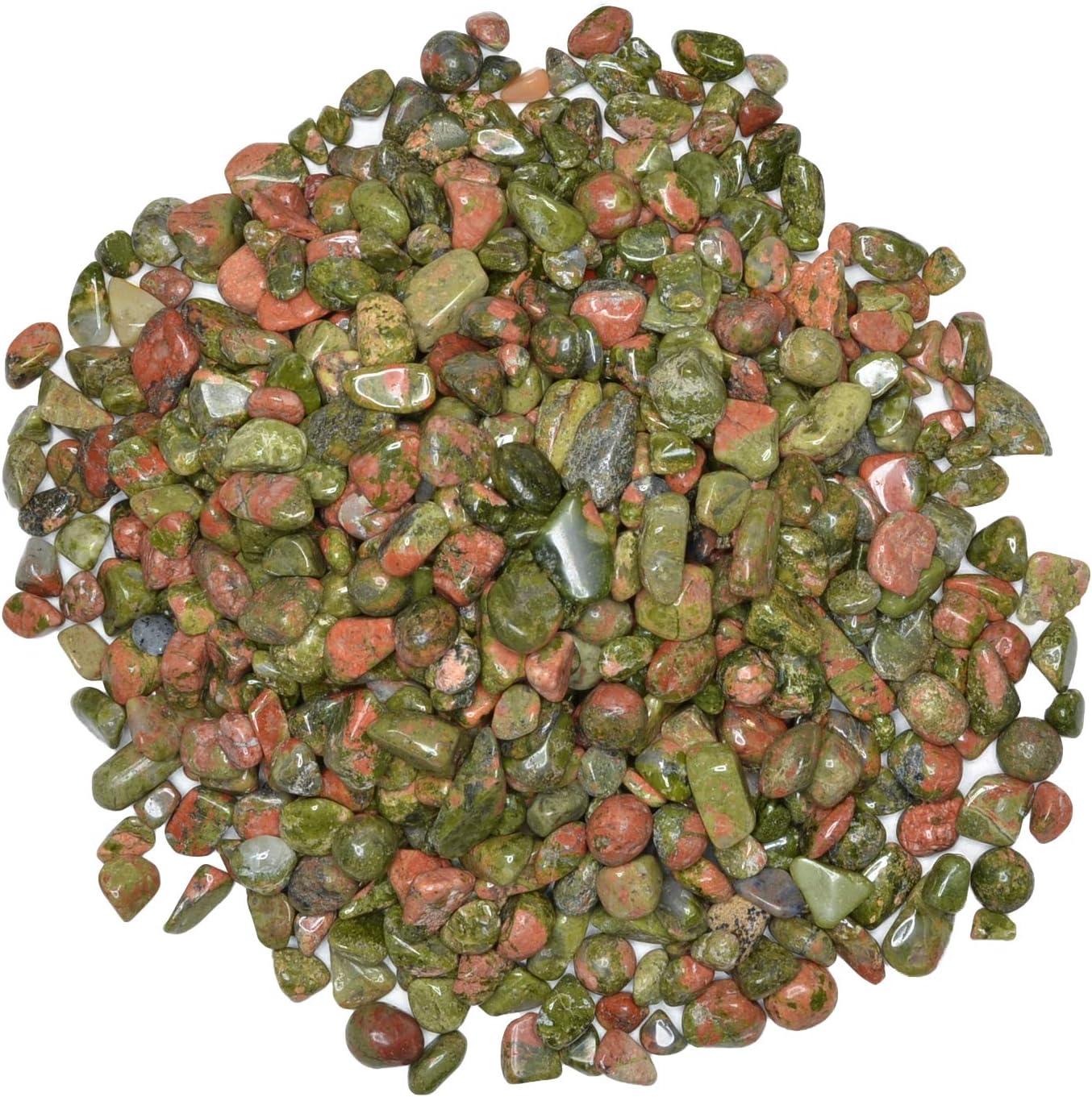 Hypnotic Gems: 18 lbs of Regular dealer Polished Chips Rock Spasm price Unakite wit Natural