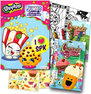 Shopkins 96 Page Coloring Book with Cupcake Land Coloring Fun Pack (Coloring Book, Crayons, Stickers)