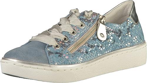 Remonte mujer Schnürer - zapatos de Cordones de Piel Para mujer azul Adria Adria plata