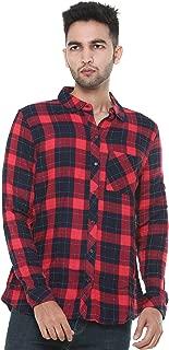TWIST99 Mens Shirt Viscose Checkered Full Sleeve Shirt