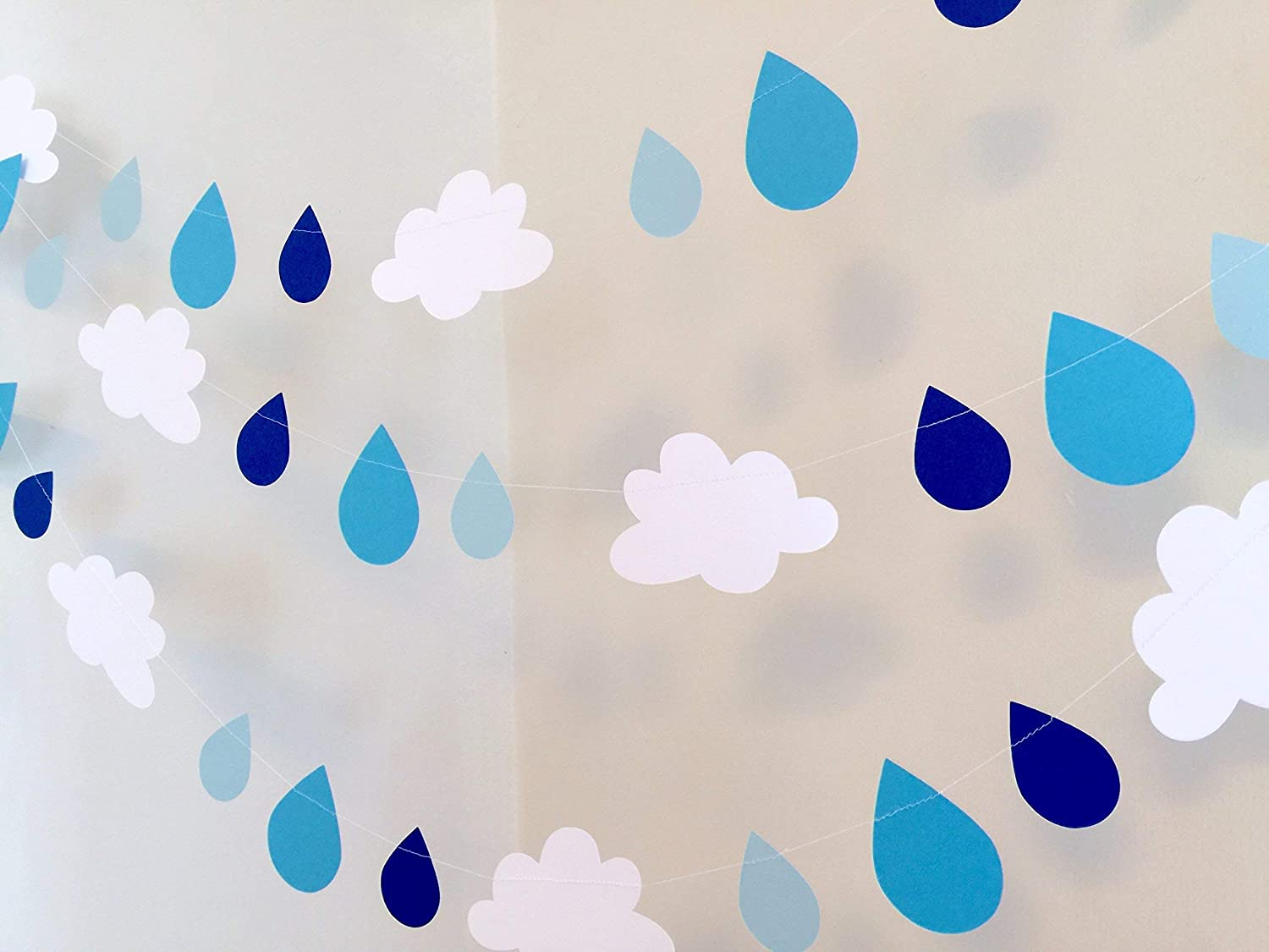 Baby In a popularity Sprinkle decorations - Blue Raindrop garland Max 74% OFF Decoration C