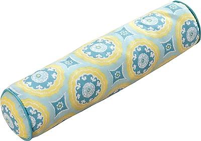 C&F Home Delilah Blue Bolster Pieced Pillow 5 x 20 Blue