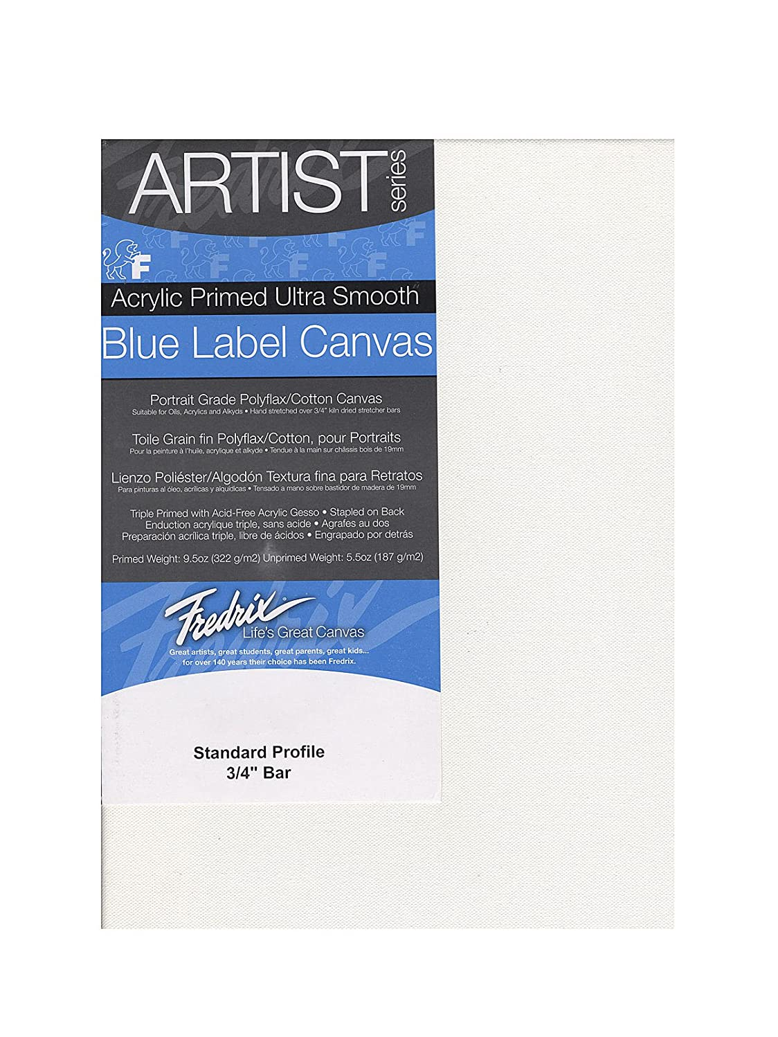 Fredrix 5606 Ultra Smooth Stretched Canvas, 14 by 18-Inch