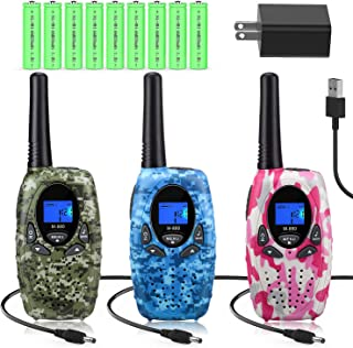 Topsung Walkie Talkies Rechargeable for Kids/Adults, FRS Rechargeable Two Way Radios Long Range with Charger Batteries, Walky Talky for Camping (Camouflage)
