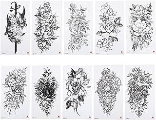 Beaupretty 10 vellen armstickers, volledige arm, tijdelijke tatoeages, decoratieve lichaamsstickers