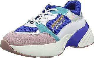 Pinko 女士 Zaffiro 运动鞋 Rete Tecnica 麂皮一脚蹬运动鞋 Multicolour (Blu/Bianco/Rosa Ezn) 7 UK