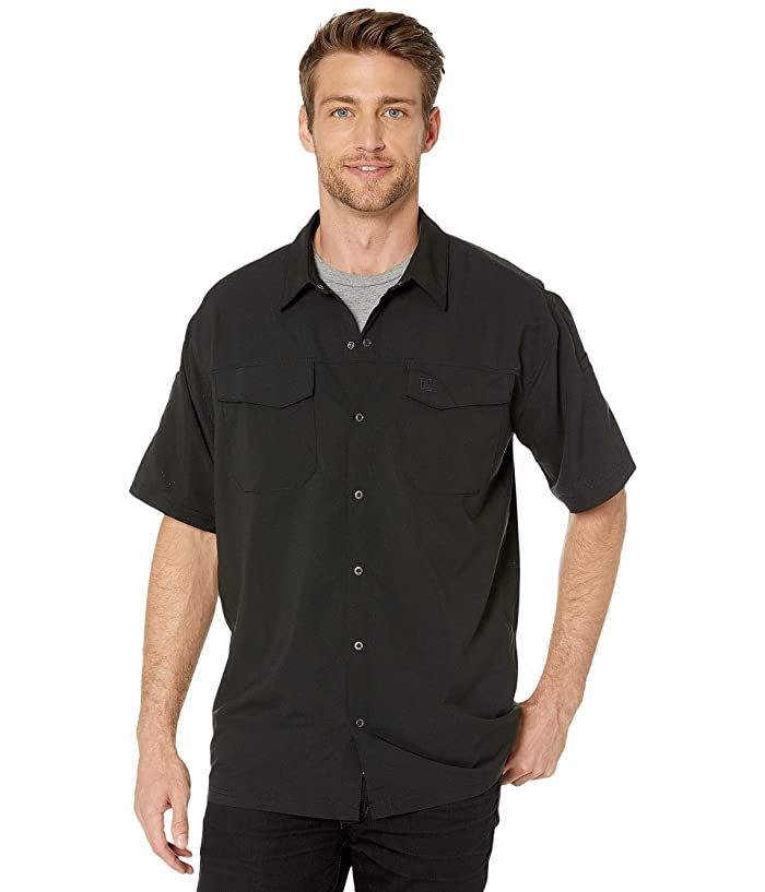 5.11 Tactical  Freedom Flex Woven Short Sleeve Shirt (Black) Mens Clothing