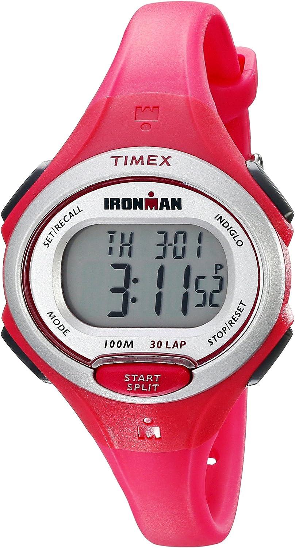 Timex Women's TW5K903009J Ironman Essential Latest Max 53% OFF item Pink 30 Resin Strap