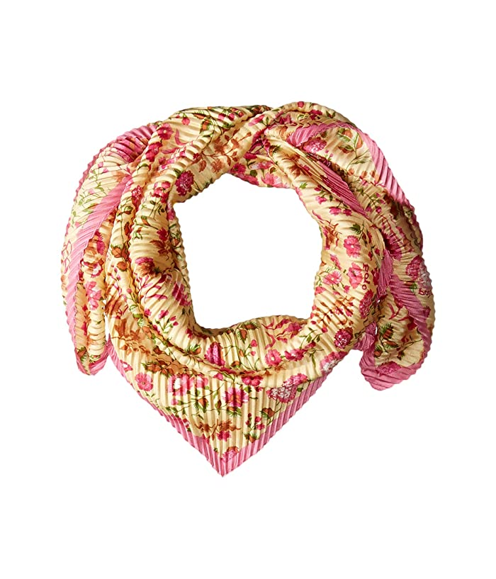 Polo Ralph Lauren  Pleated Ditsy Floral Scarf (Pink Multi) Scarves