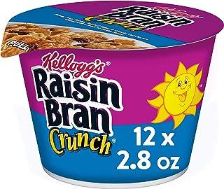 Kellogg's Raisin Bran Crunch, Breakfast Cereal in a Cup, Original, Good Source of Fiber, Bulk Size, 12 Count (Pack of 2, 1...