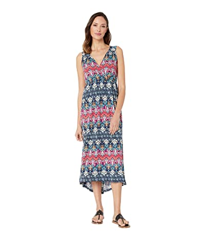 Tribal Printed Sleeveless High-Low Maxi Dress (Dahlia) Women