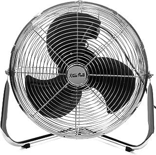 XtremepowerUS 16-Inch Industrial Grade High Velocity Pivoting Floor Fan Adjustable 3-Speed Fan Shop Fan Garage CSA UL