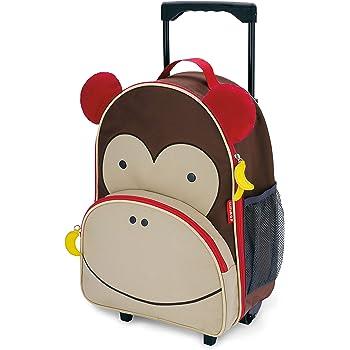 Skip Hop Kids Luggage with Wheels, Monkey