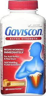 Gaviscon Extra Strength Butterscotch Antacid Tablets 60 Count