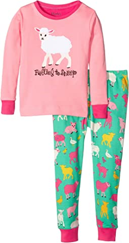 Falling to Sheep Pajama Set (Toddler/Little Kids/Big Kids)