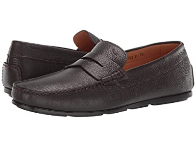Santoni Tanton Wellington Penny Loafer (Dark Brown) Men