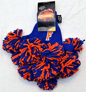 University of Florida Gators Apparel Pom Pom Gloves. NCAA Spirit Fingerz Cheerleader Finger Pom Poms Show College Pride Team Spirit and are Game Day Souvenirs for Fans -Gator Pride Collectible!