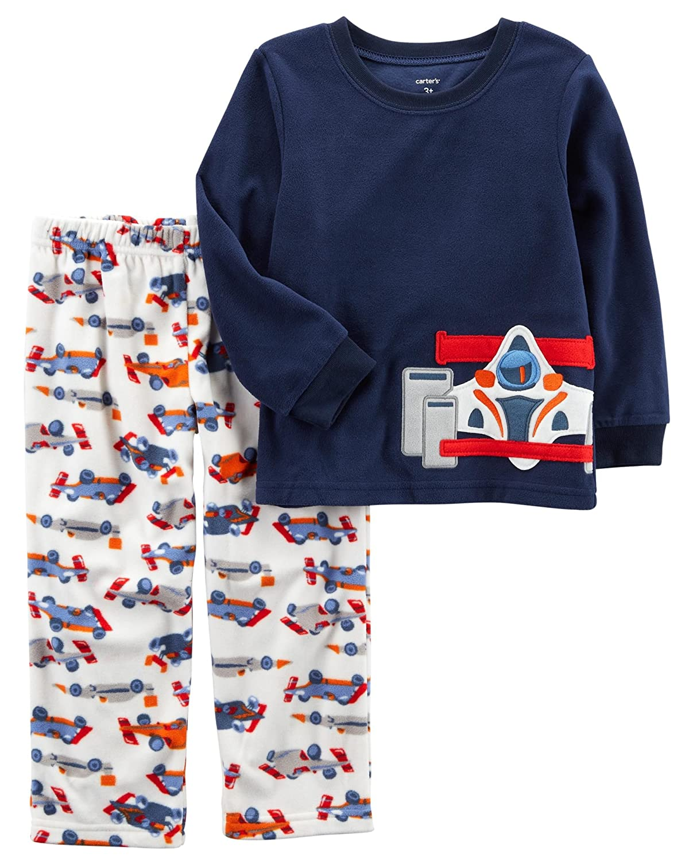 Carter's Boys' 12M-14 2 Piece Racecar Fleece Pajamas 18 Months