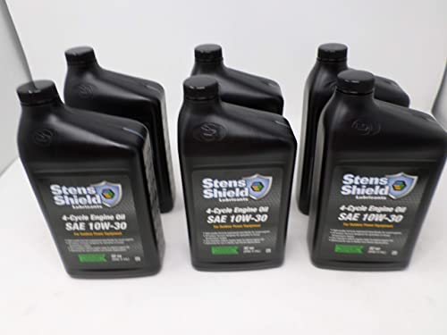 discount Stens online sale Shield 770-132 SAE 10W-30 4-Cycle Engine Oil Quart lowest (Pack of 6) online sale