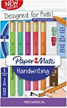 Paper Mate Handwriting Triangular Mechanical Pencil Set with Lead & Eraser Refills, 1.3mm, Fun Barrel Colors, 8 Count (201...